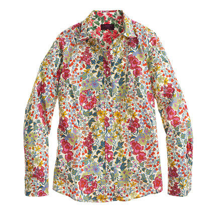 J.Crew PERFECT SHIRT IN LIBERTY EDNA FLORAL item a9907 in Vintage Red Multi