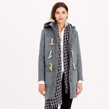 PRE-ORDER TOGGLE COAT IN MIXED TWEED item b0872 in Hthr Cement