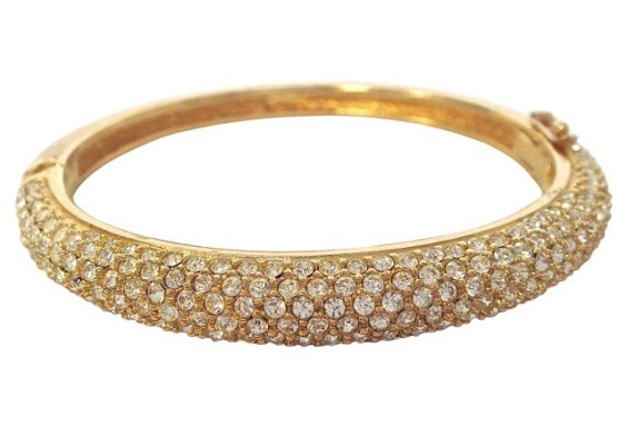 VINTAGE Christian Dior Crystal Encrusted Bangle NEW/FOUND