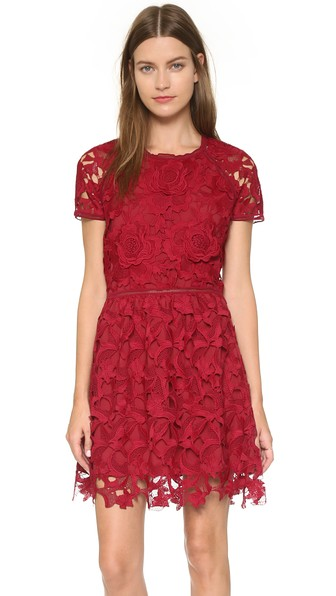 Saylor Valencia Dress in Rouge