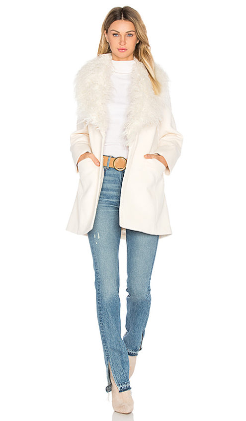 UNREAL FUR ELIXIR OF LOVE FAUX FUR COAT IVORY faux fur coats