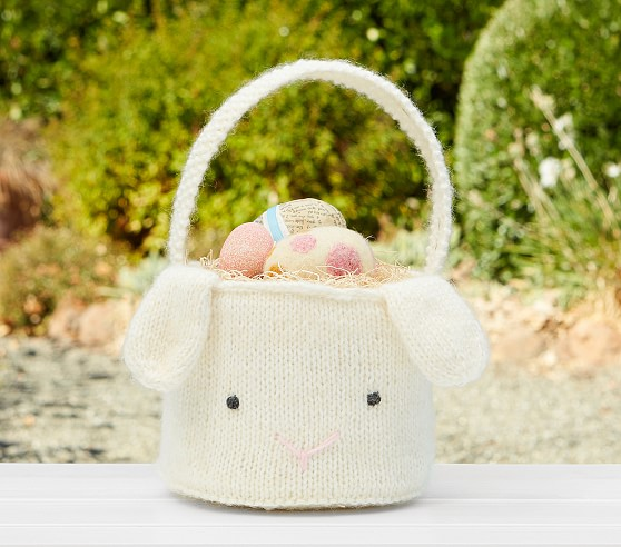Pottery Barn Kids Baby's First Knit Easter Basket pottery barn kids easter baskets