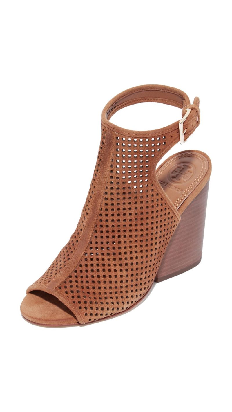 Tory Burch Jesse Open Toe Booties Royal Tan Shopbop memorial day sale