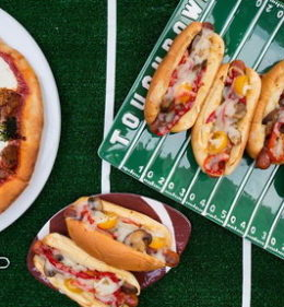 Watch Food Network host, Giada De Laurentiis show Craig Melvin how to make her signature hot dogs (inspired by Pink's in Los Angeles) and a beanless vegetarian chile verde on the Today show on Friday, October 13, 2017. These dishes are both perfect for Sunday Night Football as the New York Giants take on the Denver Broncos!
