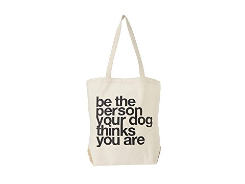 """Dogeared """"Be The Person Your Dog Thinks You Are"""" Tote trendy holiday gifts for dog moms"""