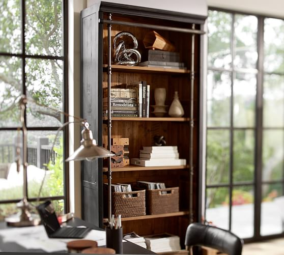 Pottery Barn GAVIN RECLAIMED WOOD BOOKCASE Eco-Friendly pottery barn holiday furniture sale