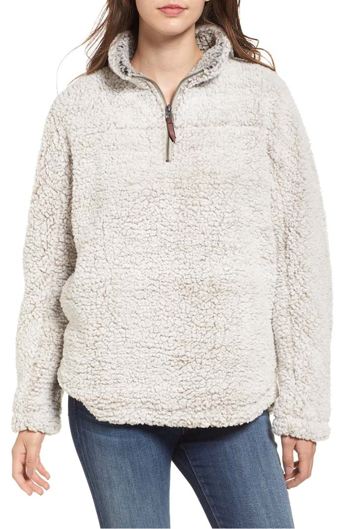 THREAD & SUPPLY Wubby Fleece Pullover Ivory nordstrom anniversary sale
