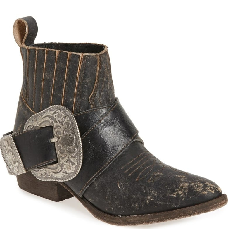 MATISSE Western Biker Bootie Black Silver western inspired ankle boots fall