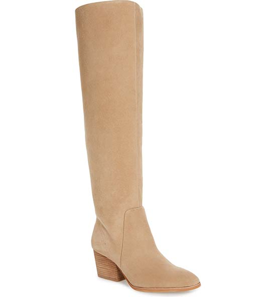 VINCE CAMUTO Nestel Knee High Boot Tortilla Suede knee high boots