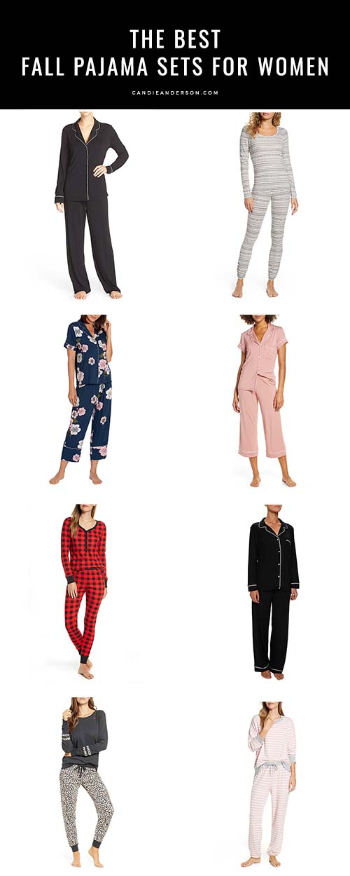 Style expert and fashion blogger, Candace Rose Anderson of the blog Candie Anderson (https://candieanderson.com) shares 25 of the best fall pajama sets for women of all ages! The pajama sets are available in a variety of styles, colors, prints and price ranges.