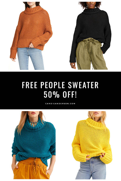 Style expert, journalist and fashion blogger Candace Rose Anderson of the blog Candie Anderson (candieanderson.com) has the scoop on the Free People My Only Sunshine Sweater that is currently 50% off at a few amazing Black Friday Sales.