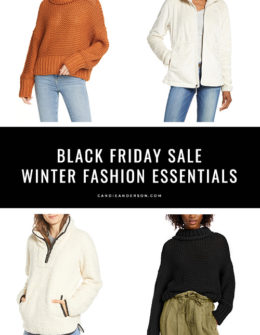 Style expert, journalist and fashion blogger, Candace Rose Anderson of the blog Candie Anderson (Candieanderson.com) has the scoop on 13 of the best Black Friday Sale winter fashion essentials for women of all ages. They'll make great holiday gifts for yourself as well as for family and friends.