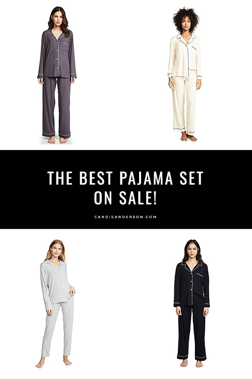 Style expert, journalist and fashion blogger, Candace Rose Anderson of the blog Candie Anderson (candieanderson.com) has the scoop on the best Eberjey Gisele pajama set for women! They're currently up to 25% off at the 2019 Shopbop Black Friday Sale.